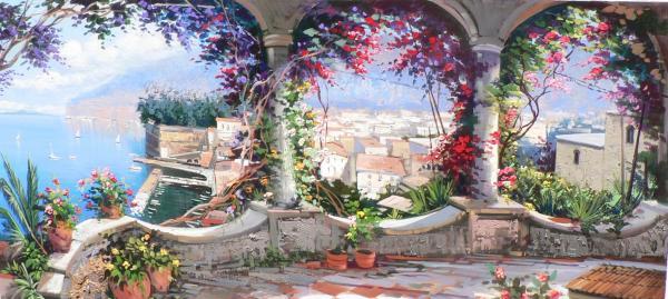 La terrazza di Sorrento in un quadro | Immagini dal mondo